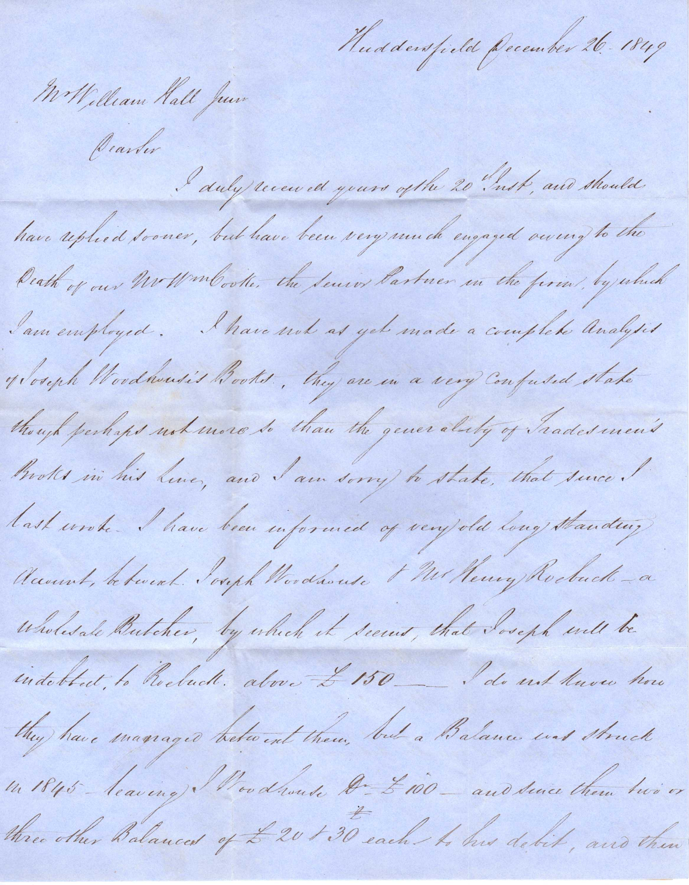 Letters from john stead better be settled now waiting your opinion on the various points i am dear sir john stead direct mr john stead messrs john cooke co huddersfield spiritdancerdesigns Gallery